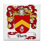 Fleury Family Crest Tile Coaster