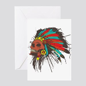 War Chief Greeting Card