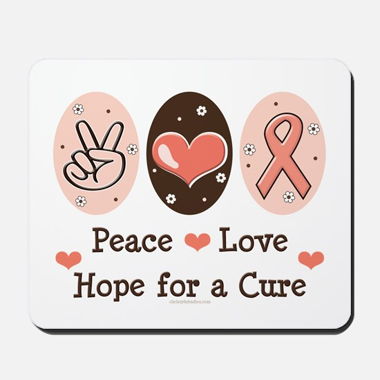 Peace Love Hope For A Cure Mousepad