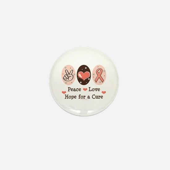 Peace Love Hope For A Cure Mini Button