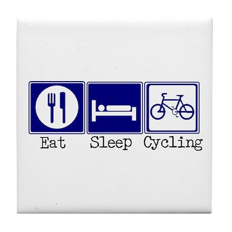 Eat, Sleep, Cycling Tile Coaster