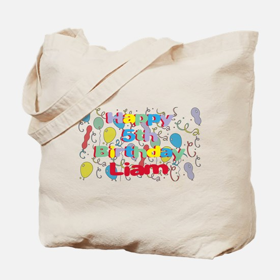 Liam's 5th Birthday Tote Bag