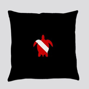 Diving Flag: Sea Turtle Everyday Pillow