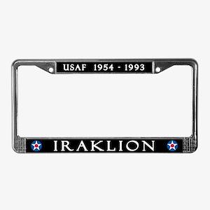Iraklion Air Station License Plate Frame