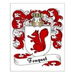 Fouquet Family Crest Small Poster