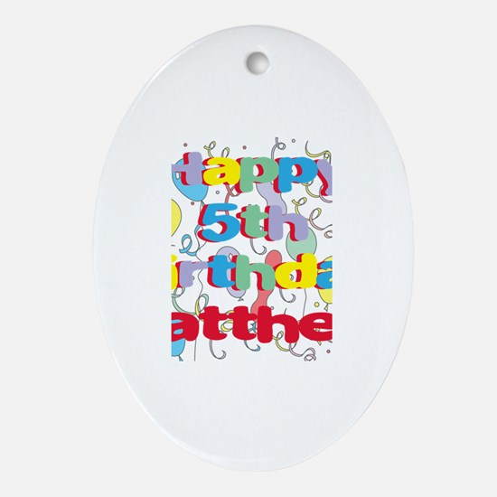 Matthew's 5th Birthday Oval Ornament