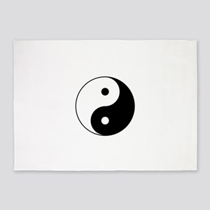 Yin and Yang Motivational Philosoph 5'x7'Area Rug