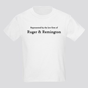 Law Firm of RUGER and REMINGTON Kids Light T-Shirt