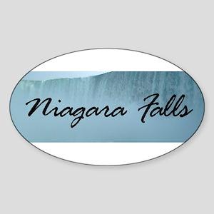 Niagara Falls Canada Oval Sticker