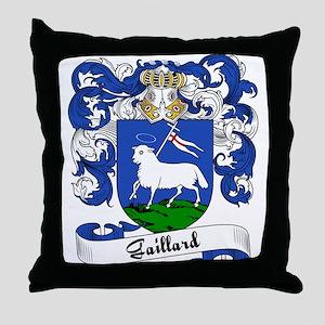 Gaillard Family Crest Throw Pillow