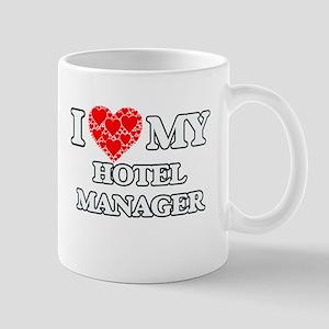 I Love my Hotel Manager Mugs