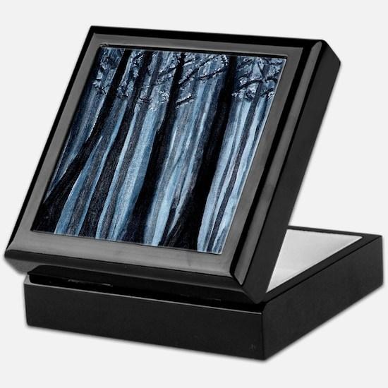Snowy Forest Keepsake Box