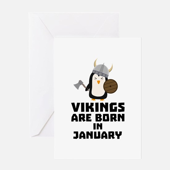 Vikings are born in January Cmwc7 Greeting Cards