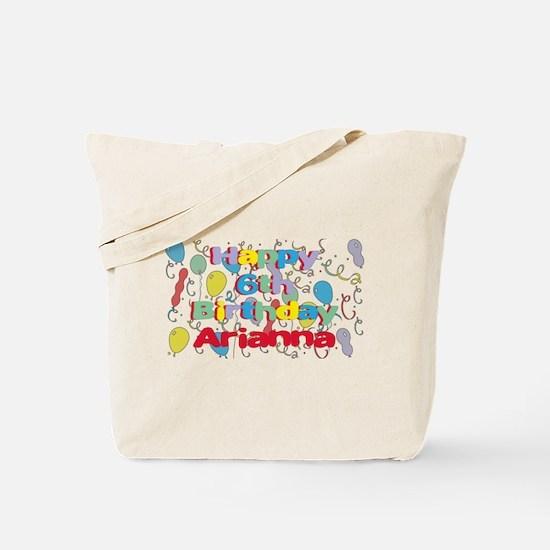 Arianna's 6th Birthday Tote Bag