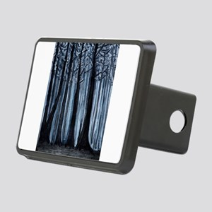 Snowy Forest Rectangular Hitch Cover