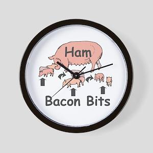 Bacon Bits Wall Clock