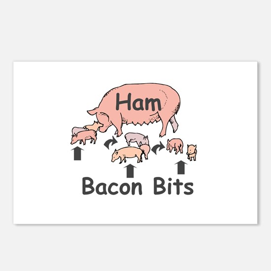 Bacon Bits Postcards (Package of 8)