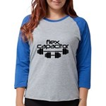 Flex Capacitor Bodybuilding Womens Baseball Tee