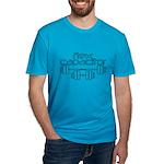 Bodybuilding Flex Capa Men's Fitted T-Shirt (dark)
