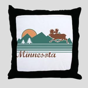 Minnesota Moose Throw Pillow