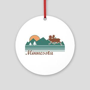 Minnesota Moose Ornament (Round)