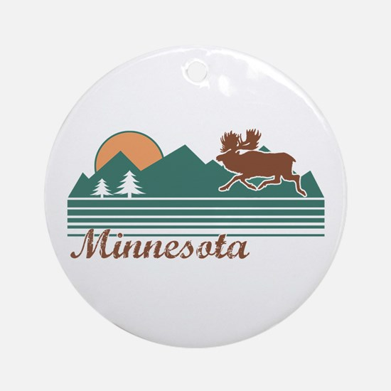 Minnesota Moose Ornament (Round)