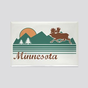 Minnesota Moose Rectangle Magnet