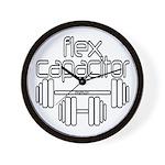 Bodybuilding Flex Capacitor Wall Clock