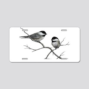 chickadee song bird Aluminum License Plate