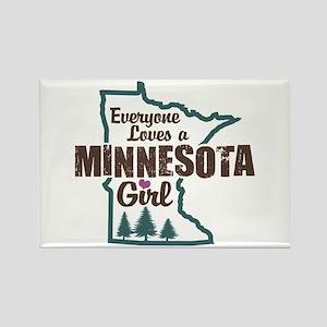 Minnesota Girl Rectangle Magnet