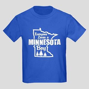 Minnesota Boy Kids Dark T-Shirt