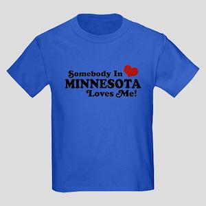 Somebody in Minnesota Loves Me Kids Dark T-Shirt