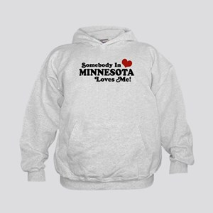 Somebody in Minnesota Loves Me Kids Hoodie