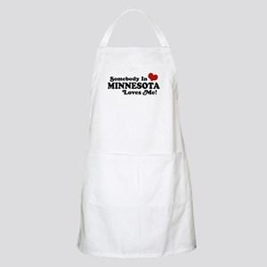 Somebody in Minnesota Loves Me BBQ Apron