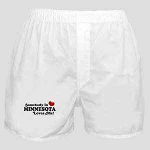 Somebody in Minnesota Loves Me Boxer Shorts
