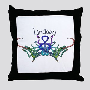 Lindsay's Celtic Dragons Name Throw Pillow