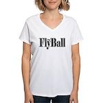 Wazgear Flyball Women's V-Neck T-Shirt
