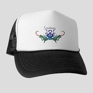 Lindsay's Celtic Dragons Name Trucker Hat
