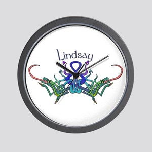 Lindsay's Celtic Dragons Name Wall Clock