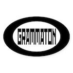 Grammaton Bumper Stickers Oval Sticker