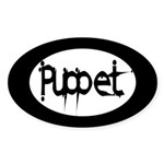 Puppet Oval Sticker