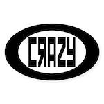 Crazy Oval Sticker