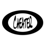 Cheater Oval Sticker