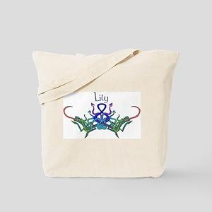 Lily's Celtic Dragons Name Tote Bag
