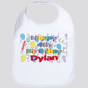 Dylan's 4th Birthday Bib