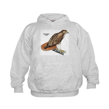 Red-Tailed Hawk Bird Kids Hoodie