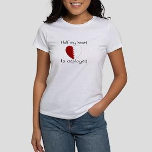 Half My Heart Is Deployed Women's T-Shirt