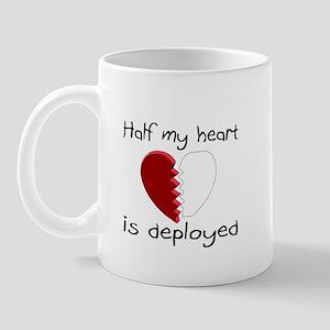 Half My Heart Is Deployed Mug
