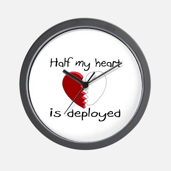 Half My Heart Is Deployed Wall Clock