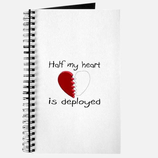 Half My Heart Is Deployed Journal
